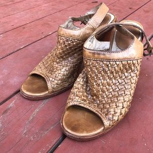 Frye leather heel sandals
